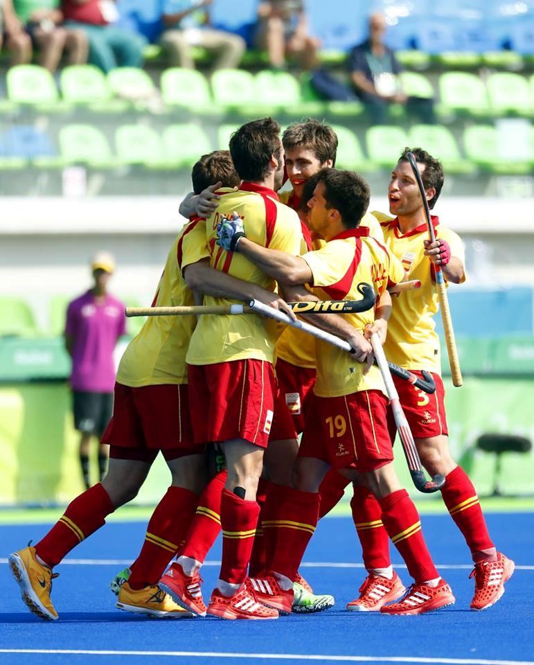 Description de Frédéric Soyez, coach de l'équipe d'Espagne de Hockey sur gazon: « Les joueurs ont vraiment grandi pendant les Jeux Olympiques »